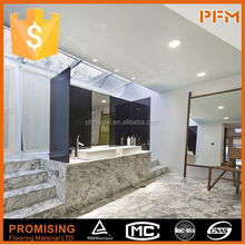 eased edge guangxi white marble prefab kitchen countertops