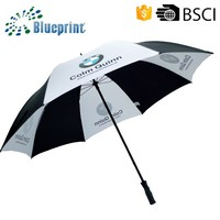 High quality BMW brand manual open golf umbrella with pongee fabric