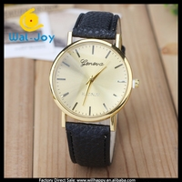 WJ-4059 newest colorful charming leather band cheap Geneva brand ladies watch