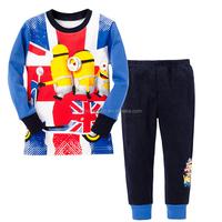 TF-05151112011 clothes set despicable me children national flag minion kids pajamas