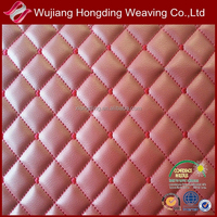 waterproof warm keeped faux leather quilted fabric