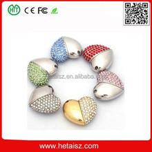 heart shape jewelry usb flash drives bulk 32gb, diamond jewelry heart shape usb flash drive 2tb