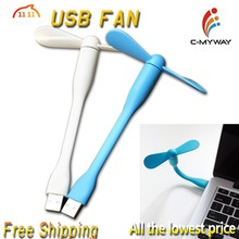 Mini USB Hand-Held usb mini fan / Portable Air Fan White and Blue Made in China