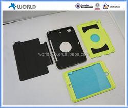 folded leather cover combo case for ipad mini 4, hybrid leather case for ipad mini 4