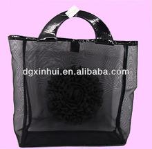 Large nylon mesh shopping bag grocery tote bags