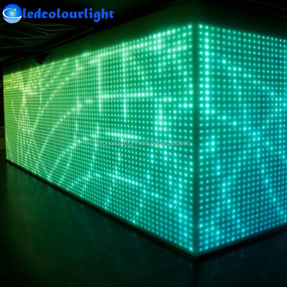 dmx512 led mur vid o panneau lumineux disco dj bo te de nuit changement de couleur led. Black Bedroom Furniture Sets. Home Design Ideas