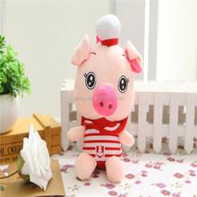 Professional Design Cute Plush Pig /custon plush dog