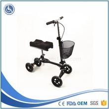 Folding knee walker knee scooter removeable basket FDA CE approved 120kg capacity