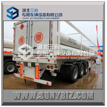 High Quality 8 Tubes Skid CNG Trailer ISO11120 CNG Tank,20ft CNG Trailer