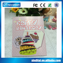 Electronic recordable greeting card for birthday