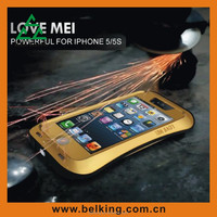 Love Mei Shockproof Rugged Protective Metal Case For iPhone 5 5S