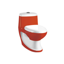Red and white glaze washdown ware sanitary