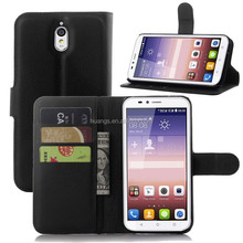 for huawei y625 case, Litchi Design With Credit Card Slots Wallet Stand Flip leather case cover for Huawei Y625