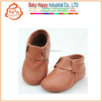 MOQ 52/mix3 size leather moccasins new born baby accessories