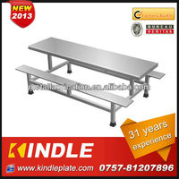 Kindle High Quality customized modern stainless steel picnic table bench with 31 years experience from Kindle