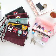 Portable Handle Mesh Travel Pouch Tote Bag Zipper Toiletry Tote Storage Bag