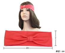 Sya 2014 Fashion Custom Candy Ribbon Knot Sports Yoga Headbands For Women