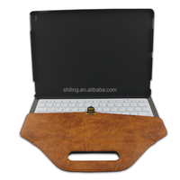 New Arrival! Handbag Design 12.9 Tablet Leather Case with Keyboard for iPad Pro