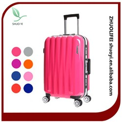 bright color luggage decent cute girls travel luggage