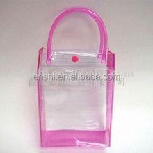 Cheap wholesale pvc clear plastic tote bag