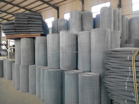 Iron welded wire mesh for animal cages or fence use