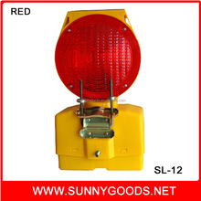 solar power led warning light used for road safety warning at night