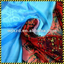 2012 New design royalblue silk chiffon fabric