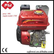high combustion efficiency 190F gasoline engine, par motor