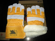 wool lined Insulated working gloves/leather glove/winter glove