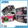High quality juice/water/beverage liquid bottle sticker, self adhesive die cut label printing