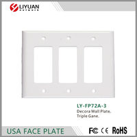 LY-FP72A-3 Decora Wall Plate, Triple Gane FACE PLATE