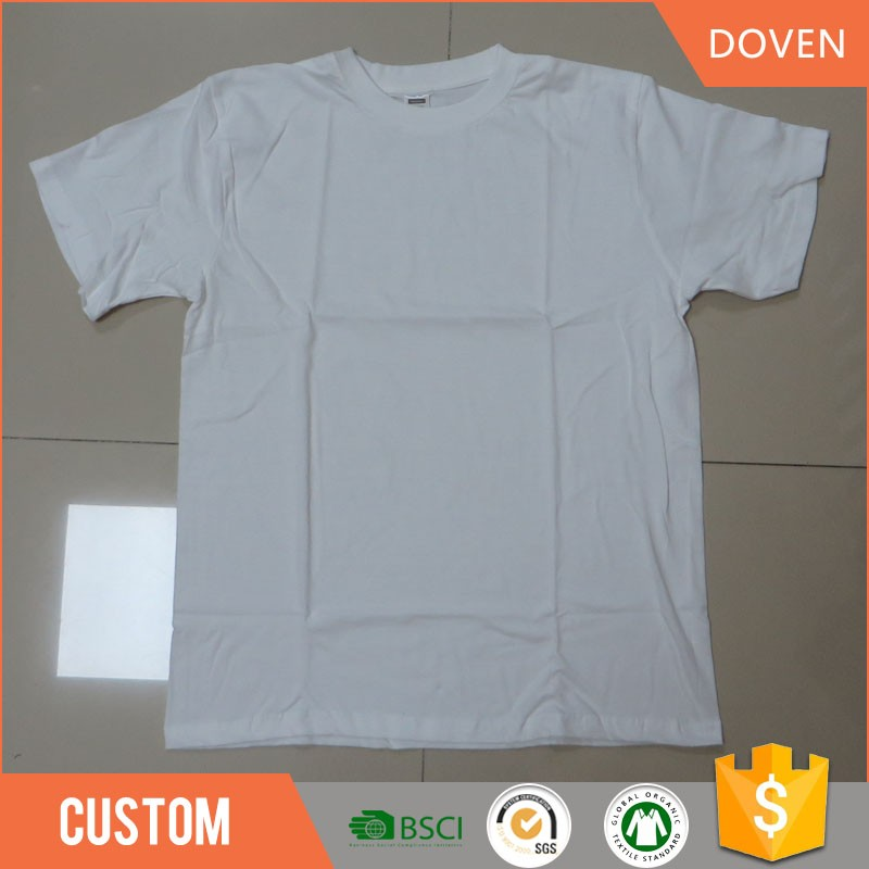 Fábrica OEM entrega rápida personalizado promocional algodão em branco t-shirt