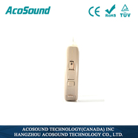 AcoSound Acomate 220 RIC 2 pin cord receiver Digital hearing aid BTE ear sound amplifier