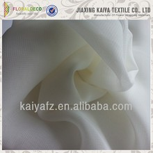 White custom new design cheap pure chiffon fabric