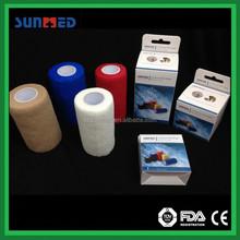 Non woven cohesive self adhesive bandage