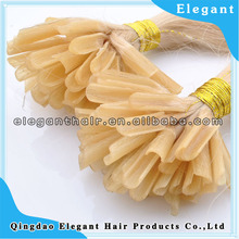 Wholesale factory price,2014 Hot sale Keratin Fusion nail tip hair extension