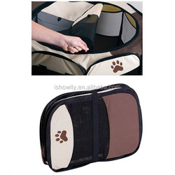 PAW printing Pet Playpen Dog Cat Soft Crate Cage Tent Travel Puppy Portable Exercise