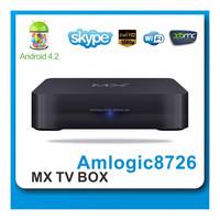 dual core mx android 4.2 smart tv box,amlogic 8726 mx tv box , mx2 xbmc box