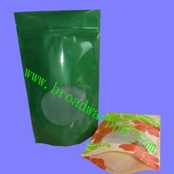 factory custom printed zip lock plastic packaging bag with stand up bottom