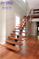 Easy Installation Customized Durable Wooden Tread stair railing, interior removable stair handrails