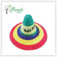 New Product Handmade Mexican Party Straw Hat