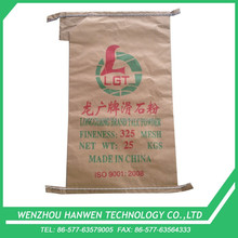 25kg offset printing talc powder packing craft paper valve bag