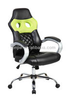 High back gaming racing leather mesh chair