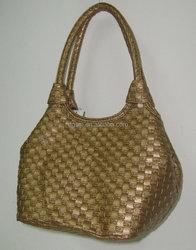 NEW designs - GOLD metallic lady handbag , pu bag , popular handbag