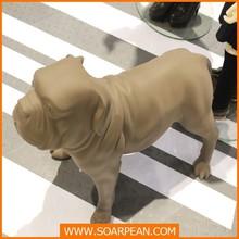 Store Custom Decorative Funny Fiberglass Shar Pei Dog