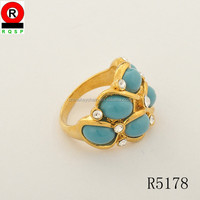 Trending Hot Products Metal Ring Fashion Calaite Vintage Style Jewelry Kallaite Finger Ring Hot Sale 2014