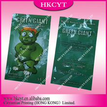 Hot sale green giant 5g herbal incense bag/spice wholesale package bag