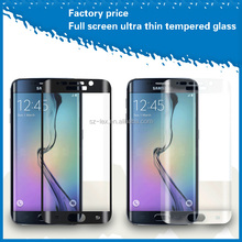 Excellent colorful 3D Curved full cover tempered glass mobile phone screen guard for samsung galaxy s6 edge