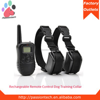 Pet-Tech P-998DR hot rechargeable and waterproof dog training collar, used dog training collar shock from china