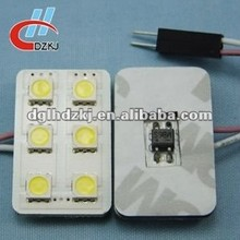 12v 2*3 5050 6smd led interior dome light for toyota accessories